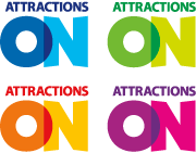 attractions ontario brand color logos